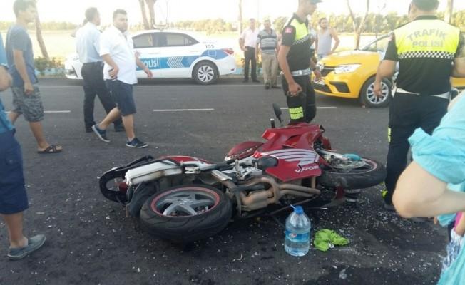 İzmir'de Motosiklet kazası :1 Ağır yaralı