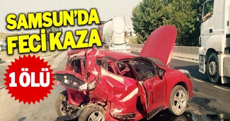 Kamyonet kırmızı ışıkta bekleyen otomobile çarptı: 1 ölü