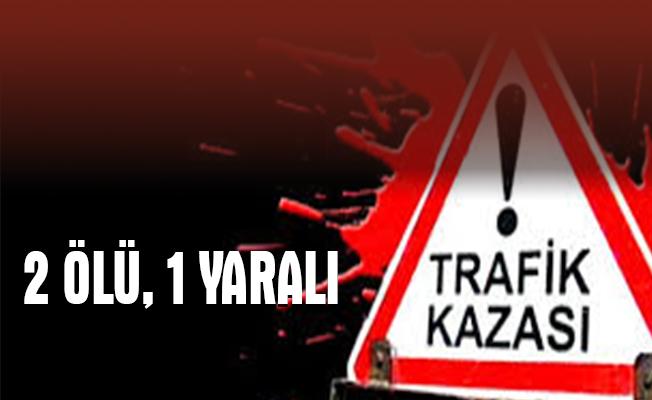 Kayseri`de trafik kazası: 2 ölü, 1 yaralı