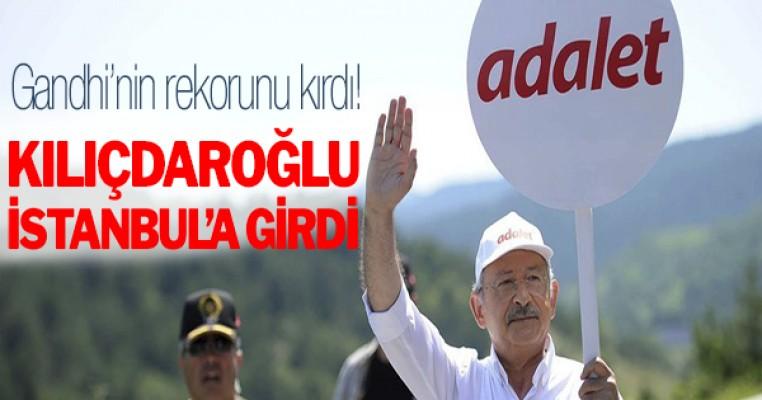 Kılıçdaroğlu İstanbul`da girdi