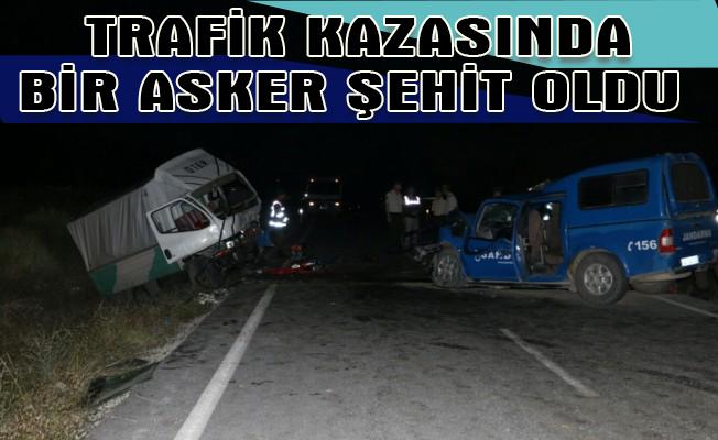 Kütahya`da trafik kazasında bir asker şehit oldu
