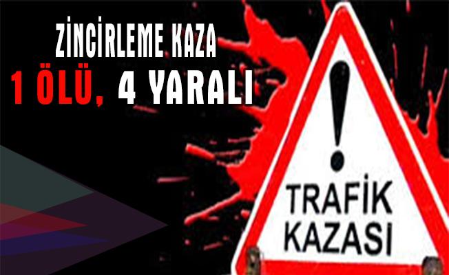 Kütahya`da zincirleme trafik kazası: 1 ölü, 4 yaralı