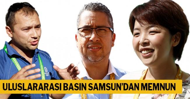 Uuslararası basın Samsun'dan memnun
