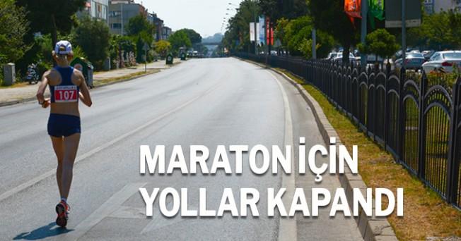 Maraton nedeniyle yollar kapatıldı
