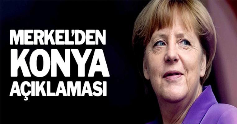 Merkel`den Konya açıklaması