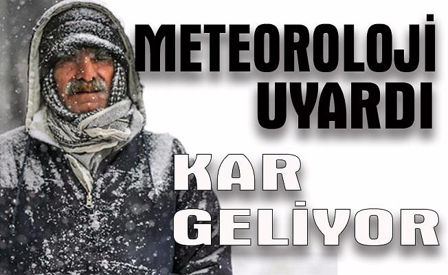 """Meteoroloji: """"Kara hazırlıklı olalım"""""""