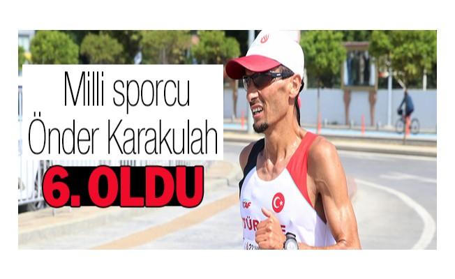 Milli sporcu Önder Karakulah, 2.45.12`lik derecesiyle 6. oldu