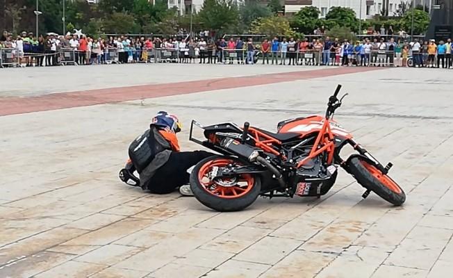 Motosiklet Festivali`nde Yürekleri Ağza Getiren An