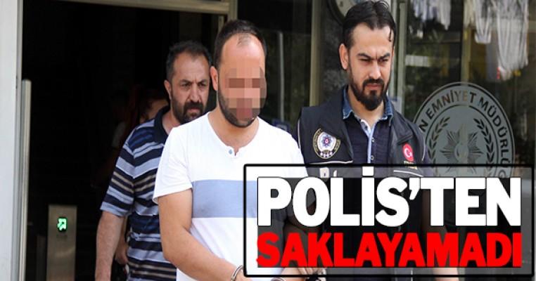 Otlar arasına uyuşturucu hap saklayan genç gözaltına alındı