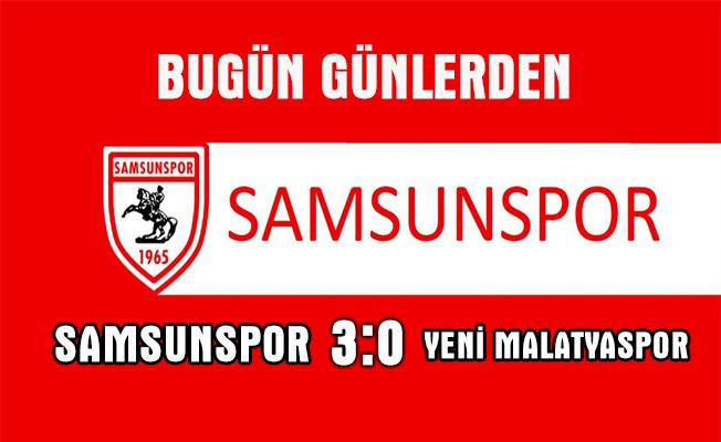 Ptt 1. lig 19. hafta maçında Samsunspor evinde Yeni Malatyaspor'u 3-0&#03