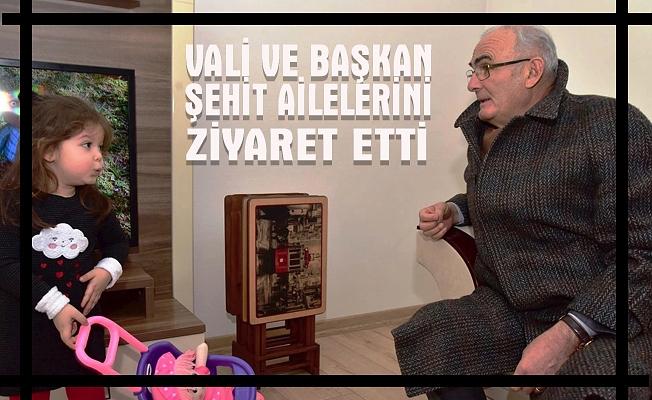 Samsun Valisi ve Büyükşehir Belediye Başkanı Şehit Ailelerini Ziyaret Etti.