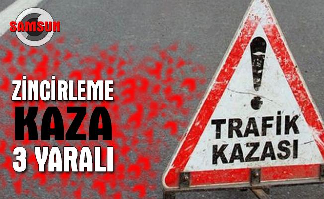 Samsun'a gelen araç kazaya karıştı: 3 yaralı