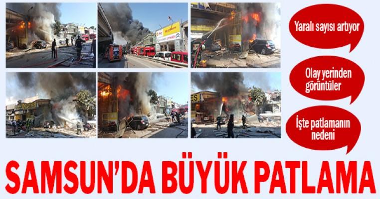 Samsun`da büyük patlama