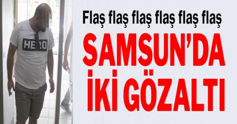 """Samsun`da """"Hero"""" yazılı tişört giyen 2 kişi gözaltına alındı"""