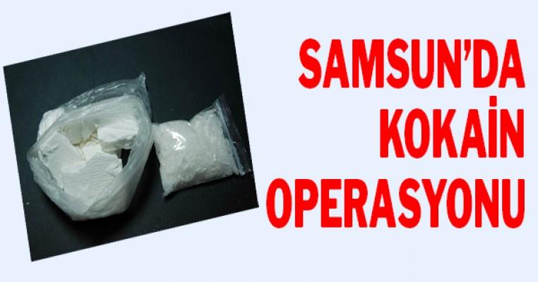 Samsun`da kokain operasyonu: 4 gözaltı