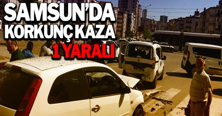 Samsun`da korkunç kaza : 1 yaralı