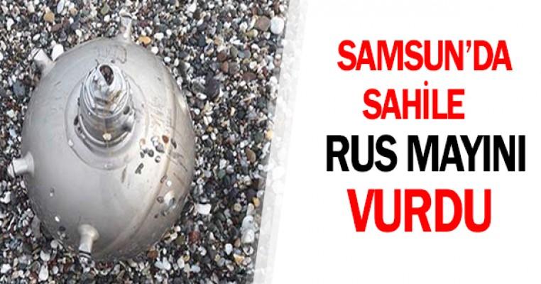 Samsun`da sahile Rus mayını vurdu