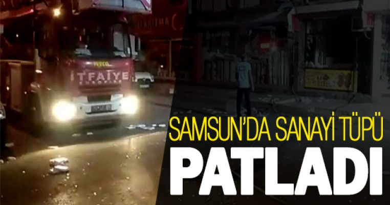 Samsun`da sanayi tüpü patladı: 1 yaralı