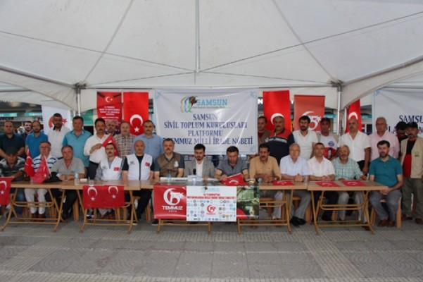 Samsun`da STK`lardan 15 Temmuz açıklaması