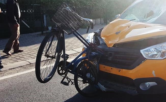 Samsun`da Taksinin Çarptığı Bisikletli Yaşamını Yitirdi!