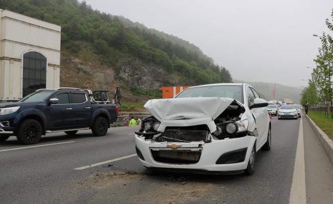 Samsun`da Trafik Kazasında 1 Kişi Yaralandı