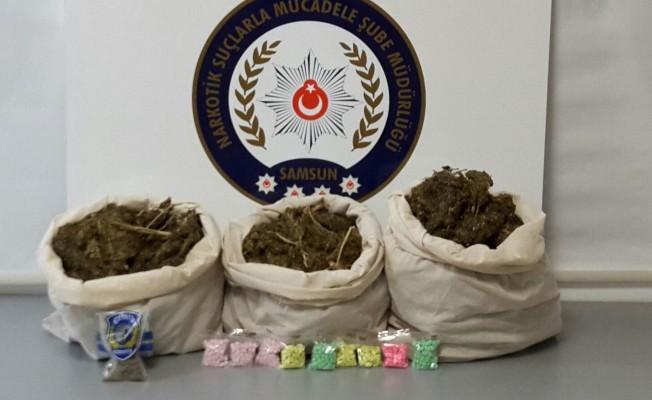 Samsun`da uyuşturucu operasyonu: 4 gözaltı