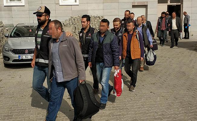 Samsun`daFETÖ`den Gözaltına Alınan 9 Şahıs Adliyede!
