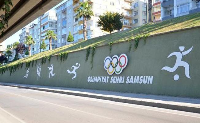 Samsun Olimpiyat renklerine büründü
