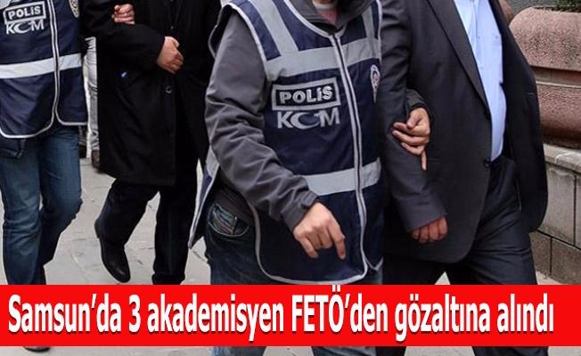 Samsun'da 3 akademisyen FETÖ'den gözaltına alındı