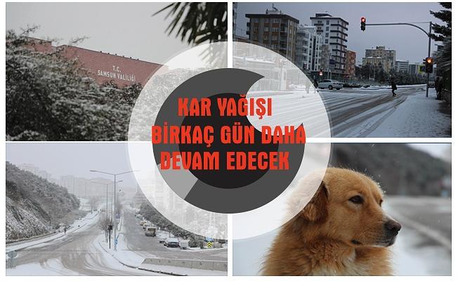 Samsun'da kar yağışı etkisini sürdürüyor