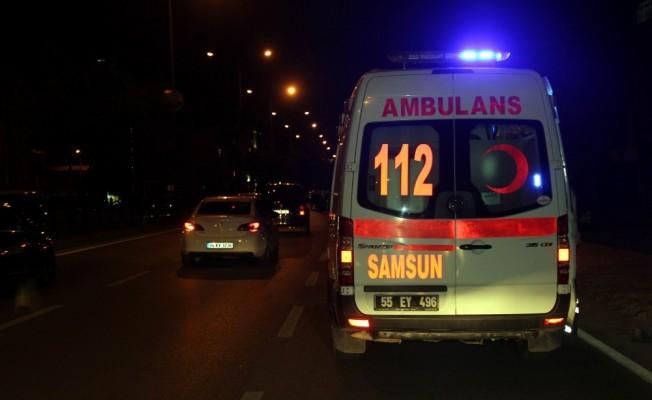 Samsun'da 3 aracın karıştığı kazada 4 kişi yaralandı