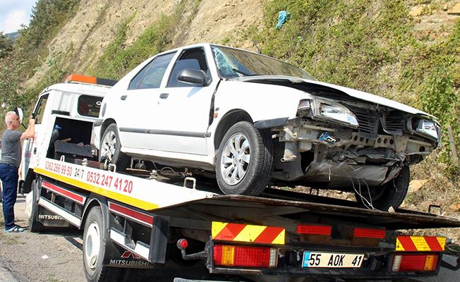 Samsun'da Otomobil Kanala Düştü: 3 Yaralı