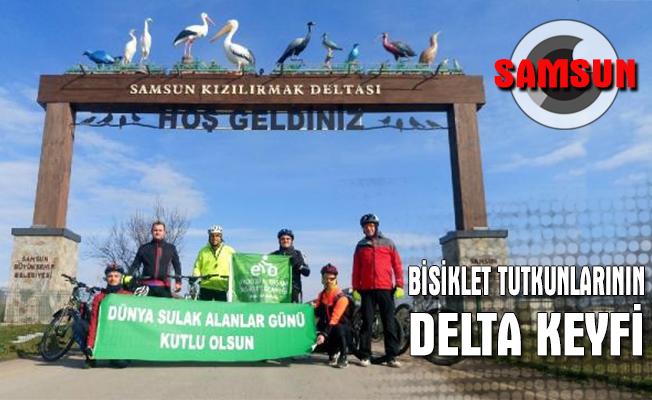 Samsunlu bisiklet tutkunlarının delta keyfi