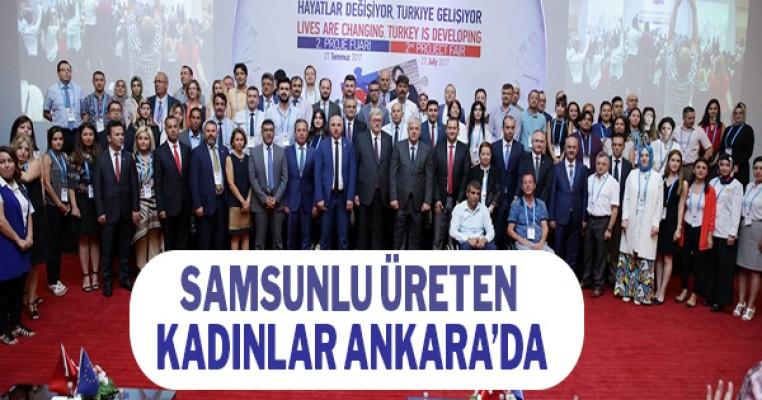 Samsun'lu üreten kadınları Ankara'da