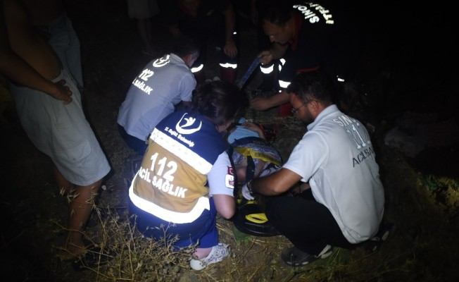 Sinop'ta yüksekten düşme: 1 yaralı