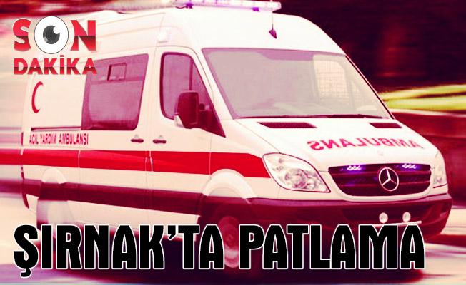 Şırnak'ta patlama: 2 çocuk yaralı
