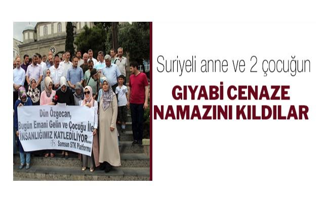 Suriyeli anne ve 2 çocuğun gıyabi cenaze namazı kıldılar