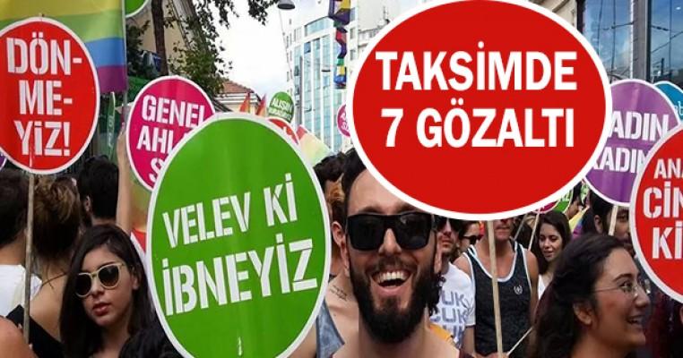 Taksim`e Çıkmak İsteyen LGBTİ`lilere Polis Müdahale Etti: 7 Gözaltı