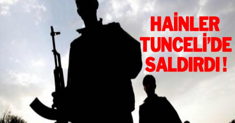 Terör örgütü PKK, Tunceli`de saldırdı
