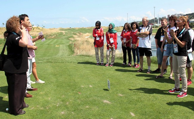 TGF'den ulusal ve uluslararası muhabirlere golf kuralları eğitimi