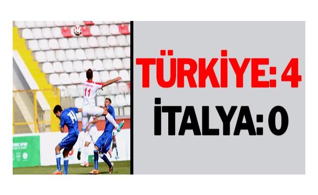 Türkiye: 4 - İtalya: 0