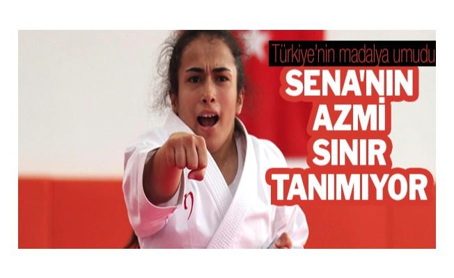Türkiye'nin madalya umudu Sena`nın azmi sınır tanımıyor