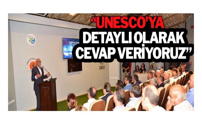 """""""UNESCO`ya detaylı olarak cevap veriyoruz"""""""