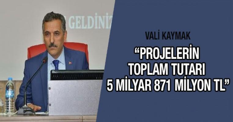 Vali Osman Kaymak: Samsun`da bin 19 proje bulunmakta