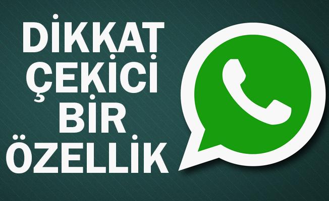 WhatsApp`a dikkat çekici özellik geliyor