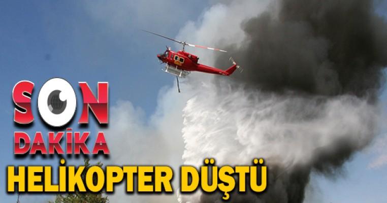 Yangın söndürme helikopteri düştü