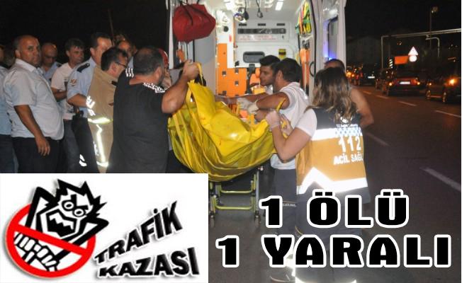 Zonguldak`ta trafik kazası: 1 ölü, 1 yaralı