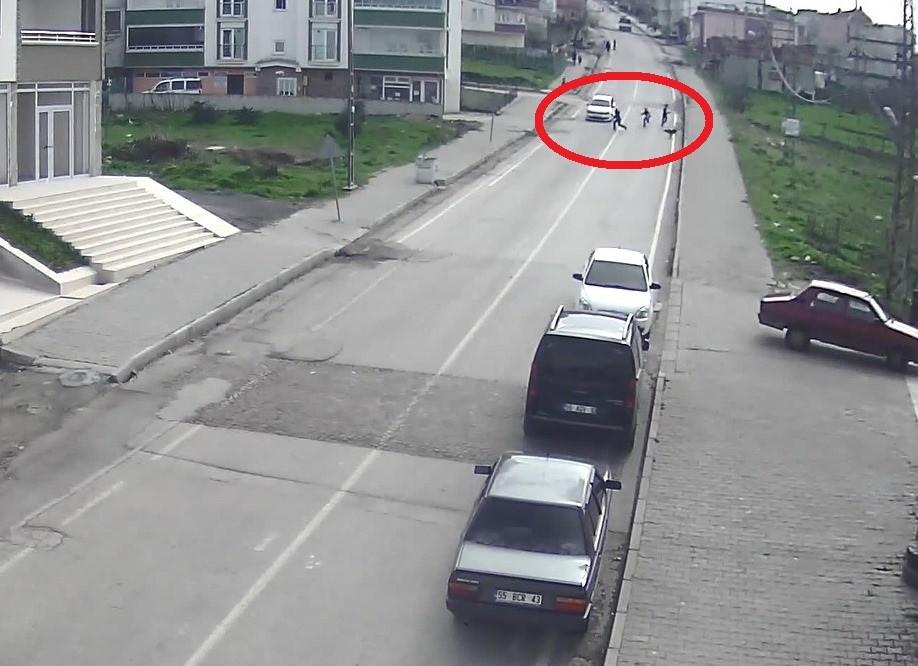Samsun'da trafik kazaları kameralara yansıdı