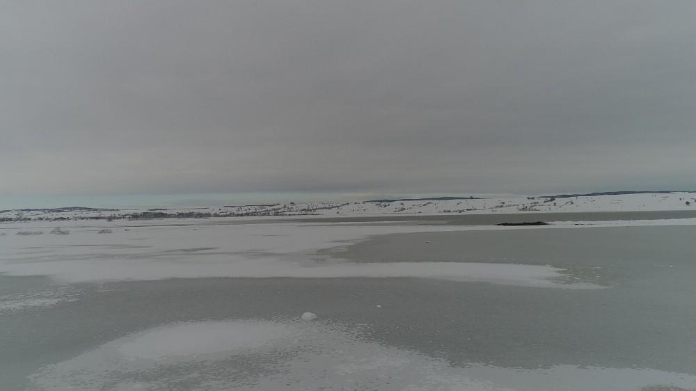 Ladik Gölü'nden kar manzaraları