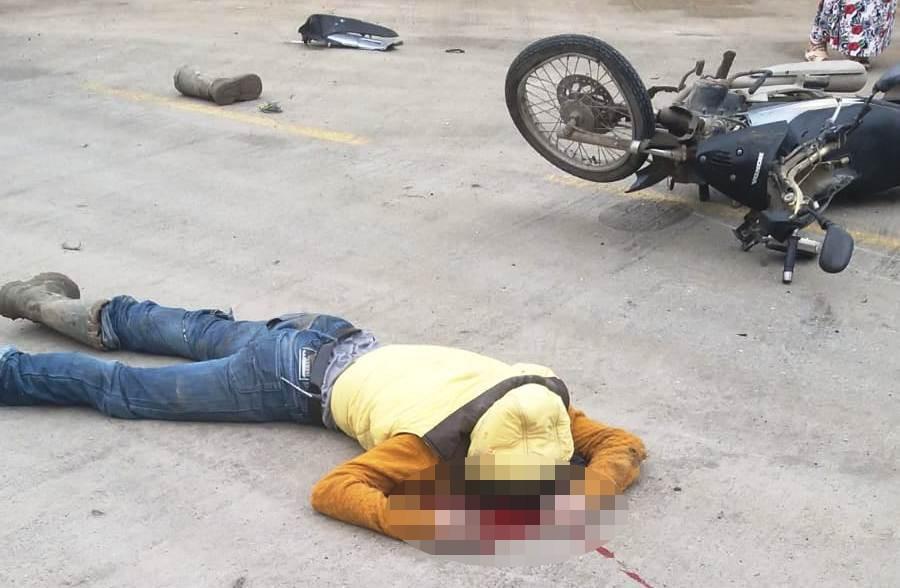 Motosiklet sürücüsü kazada ağır yaralandı
